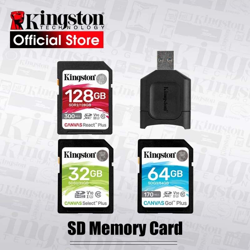 Kingston 128GB carte SD 16GB carte mémoire Class10 64GB cartao de mémoire SDHC SDXC USH-I HD vidéo 32GB carte sd pour caméra 256GB
