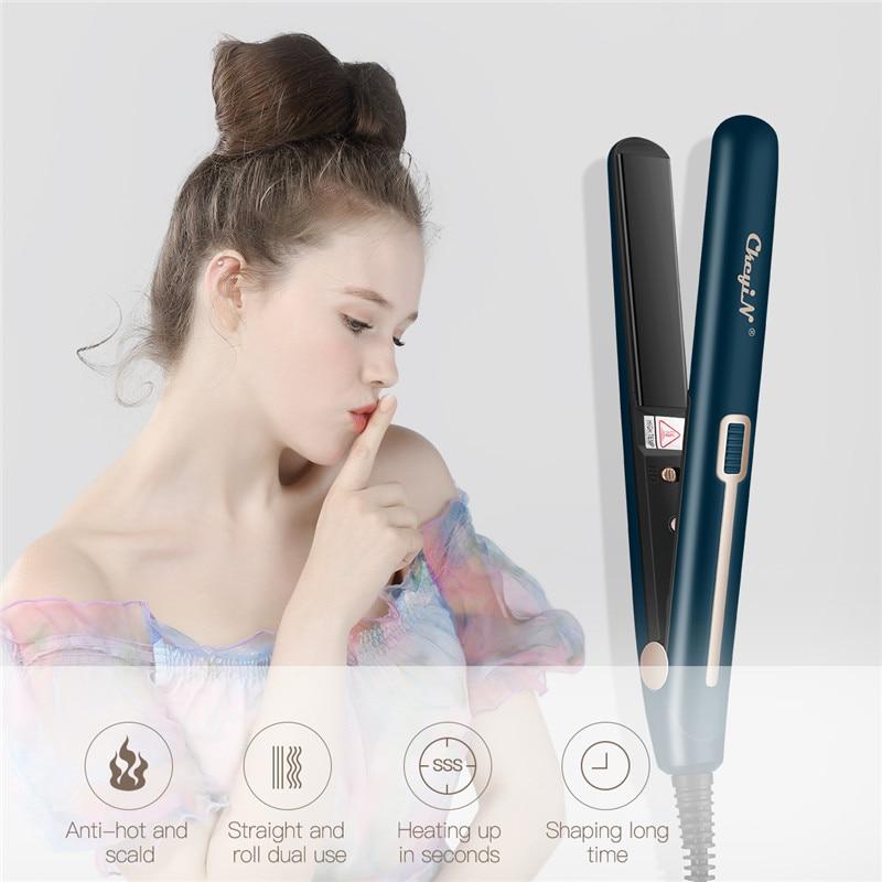 de cabelo ondulado alisador temperatura constante plana