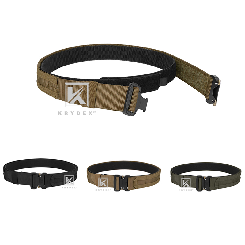 "KRYDEX 1.75"" & 1.5"" Tactical Cobra Belt Rigger Duty 2 IN 1 Outer & Inner Quick Release MOLLE Belt For Hunting Shooting Outdoor-0"