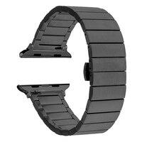 Сменный Браслет из нержавеющей стали для Apple Watch 44 мм, ремешок iwatch 5 4 40 мм, аксессуары для умных часов, петля 42 мм 38 мм