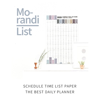 1pc 365 Days Paper Wall Calendar 2020 Schedule Agenda Daily Planner Notes Study TO DO LIST Fitness Self-discipline Form image