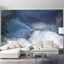 2020 youe shone Home Wallpaper 3DGraceful Blue Simple Gradient  Living Room Bedroom Background Wall Decoration Mural Wallpaper