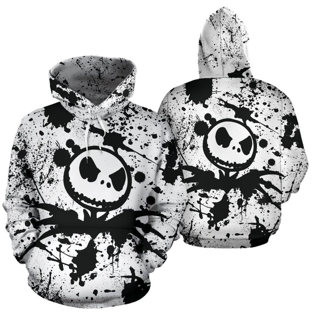 Nightmare Before Christmas Jack Skellington 3d Hoodies/shirt/Sweatshirt Winter Christmas Halloween Streetwear-3
