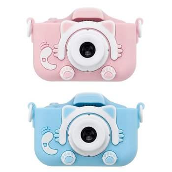 Nowy podwójny aparat cyfrowy o wysokiej rozdzielczości 1080P do aparatu dziecięcego z kartonowe pudło aparat dziecięcy aparat dziecięcy tanie i dobre opinie JIFEIMAN Z tworzywa sztucznego CN (pochodzenie) 3 lat Unisex Edukacyjne Mini Interaktywne Zabawki kamery 2 0 inch screen