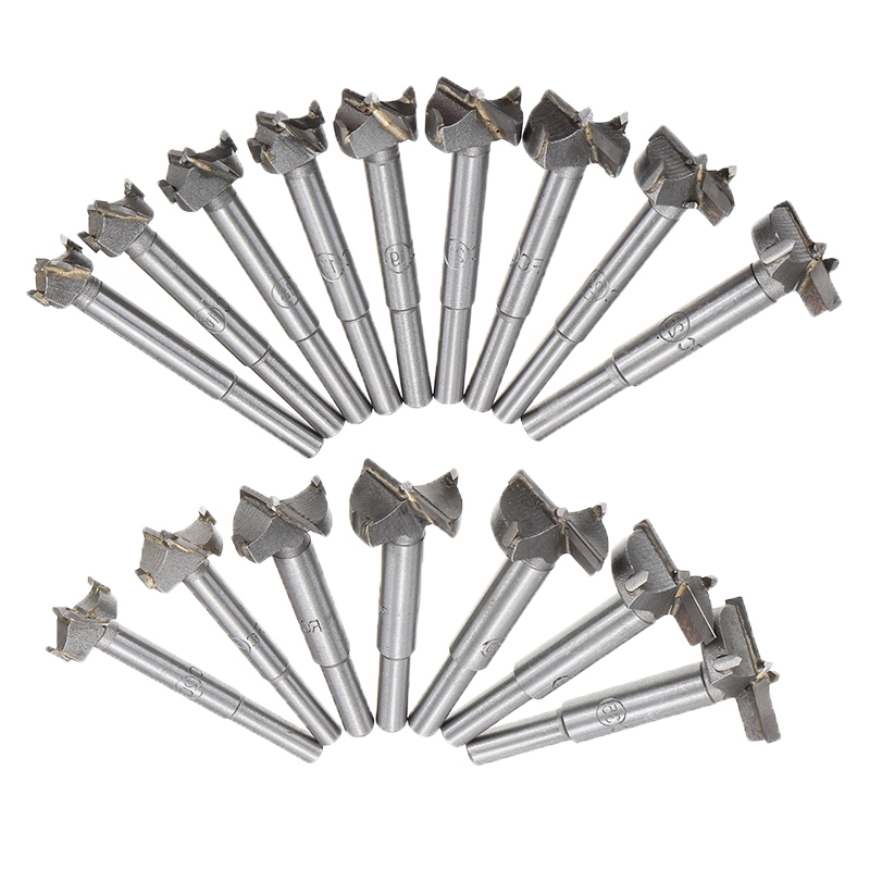 16Pcs Forstner Wood Drill Bit Self Centering Hole Saw Cutter Woodworking Tools Set 15-35mm Hinge Forstner Drill Bits