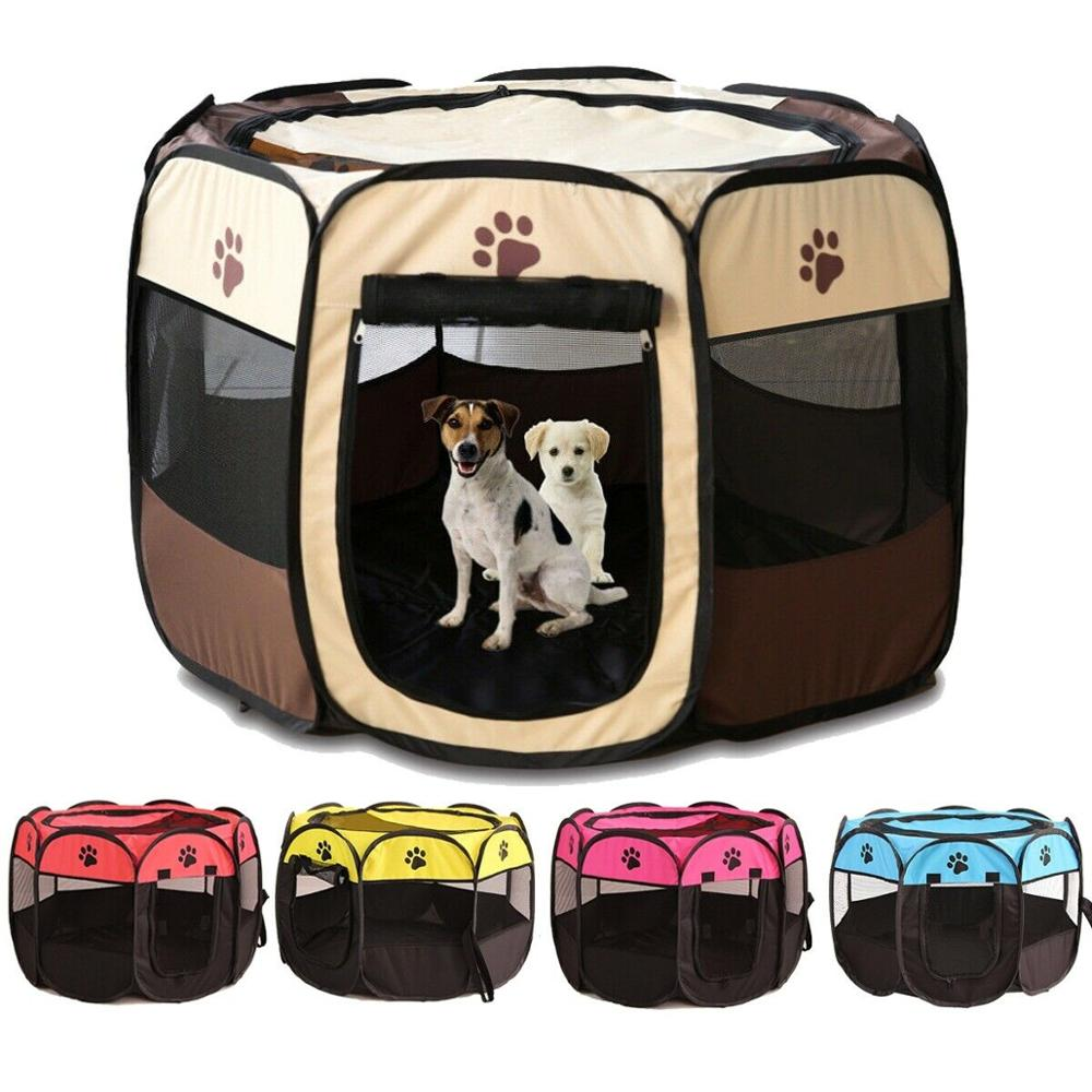 Portable Outdoor Kennels Fences Pet Tent Houses For Small Large Dogs Foldable Playpen Indoor Puppy Cage Dog Crate Delivery Room 1