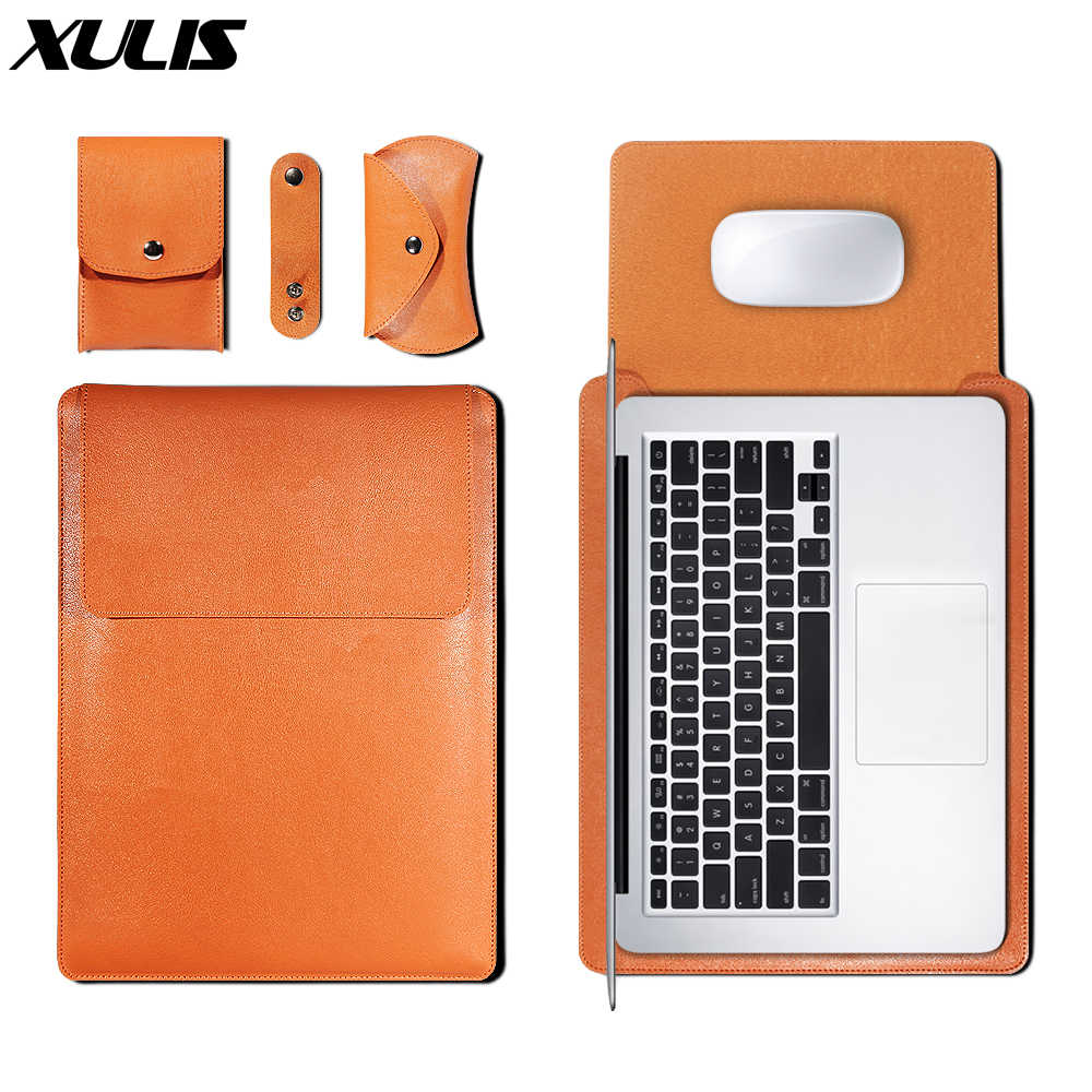 Pu Leather Sleeve Bag Case Voor Macbook Air Pro 11 12 13 15 16 Cover A1466 Liner Sleeve Voor Macbook air 13.3 Case 2020 A2179