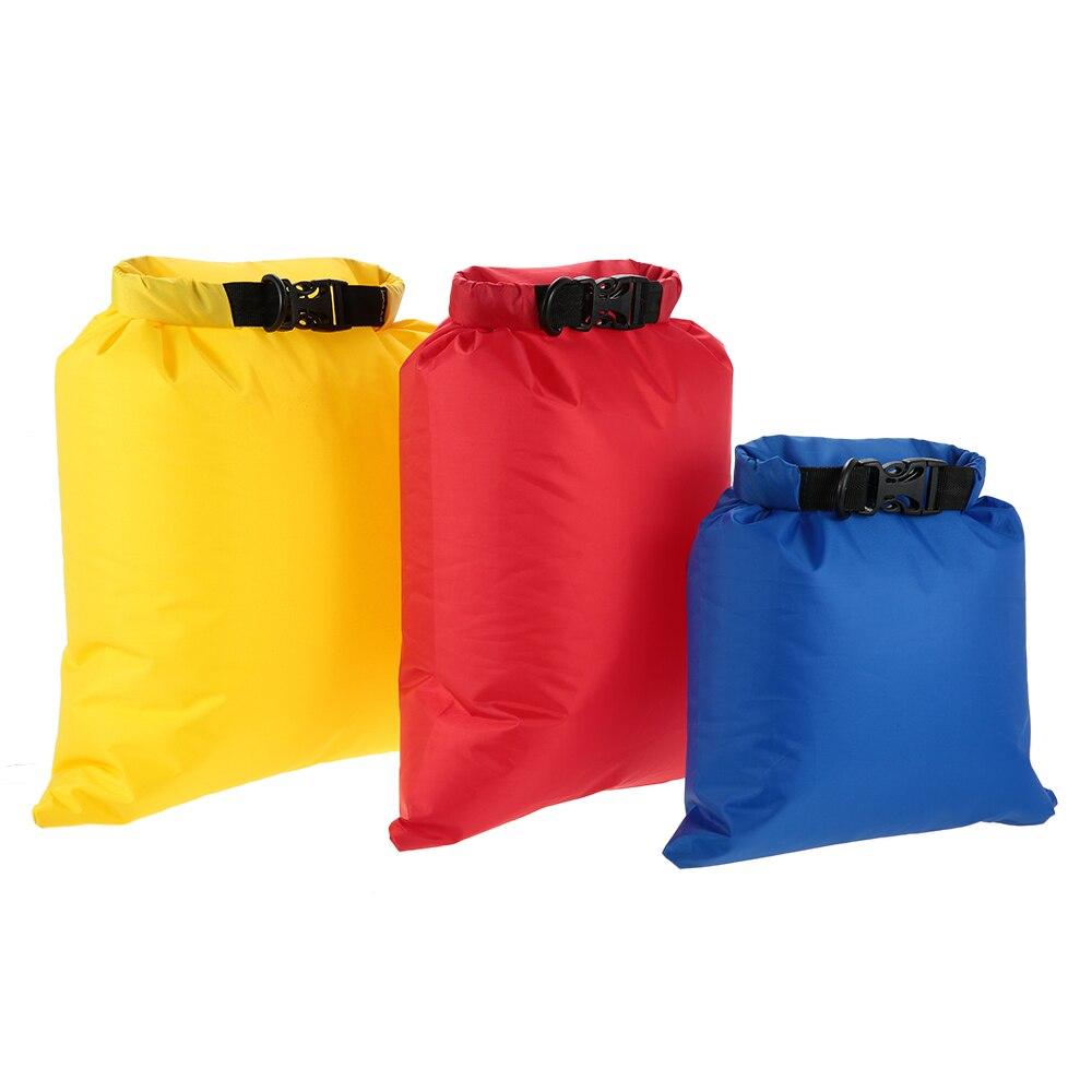 Lixada paquete de 3 bolsas impermeables 3L + 5L + 8L saco de secado ultraligero al aire libre para Camping senderismo viaje buceo bolsa de almacenamiento de compresión