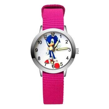 Fashion Cute Hedgehog Style Children's Watches Kids Student Girls Boys Quartz Nylon Strap Wrist Watch JA173
