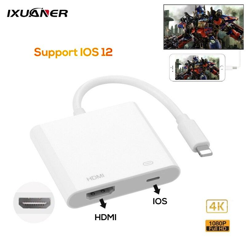 Novo 2019 Professional 4K Interface de TV HDMI Cabo Adaptador para Apple Para HDMI Digital AV Conversor para IPad IPhone IOS 12 11 10
