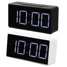 Настольный будильник светодиодный цифровой будильник с usb-портом Повтор Настольные часы электронные часы USB Таймер Календарь Термометр