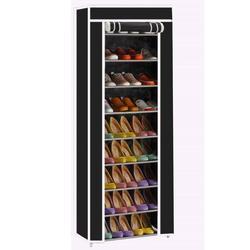10 capas 9 rejillas no tejidas Zapatero estante zapatos almacenamiento gabinete plegable a prueba de polvo estante zapatos armario de almacenamiento