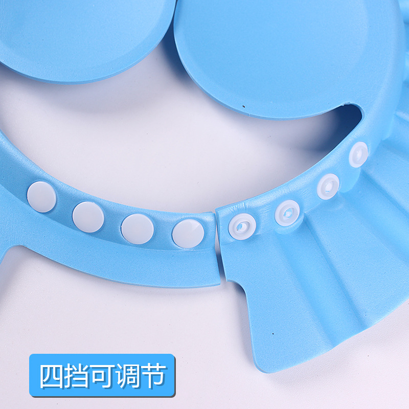 Baby Shampoo Cap Kids Waterproof Cap Earmuff Shower Cap Infant CHILDREN'S Bathing Shower Cap Bath Cap Adjustable Extra-large Thi