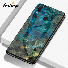 Marble Tempered Glass Case For Meizu Note 9 8 16X 16 Plus Cases Luxury Silicone Cover On for V8 pro Bumper Funda Capa