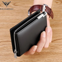 2019 Men Short Wallet Casual Genuine Leather Male Wallet Purse Standard Card Holders High Quality Wallets PL218