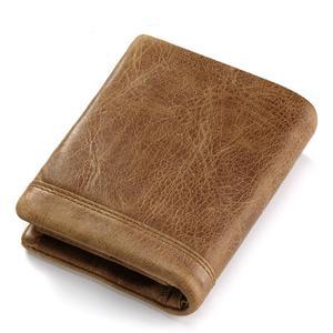 Image 2 - HUMERPAUL Genuine Leather Wallet Fashion Men Coin Purse Small Card Holder PORTFOLIO Portomonee Male Walet for Friend Money Bag