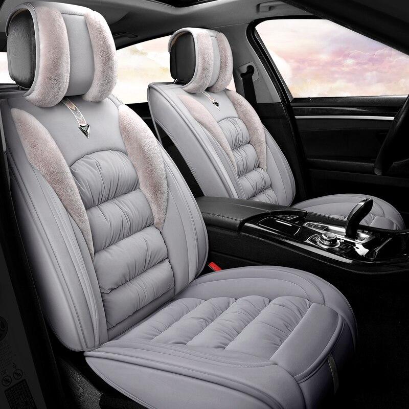 Housse de siège de voiture en peluche d'hiver coussin Faux Fu matériel pour BMW X1 X3 X4 X5 g30 e30 e34 e36 e38 e39 e46 e53 e60 e70 e83 e84 e87