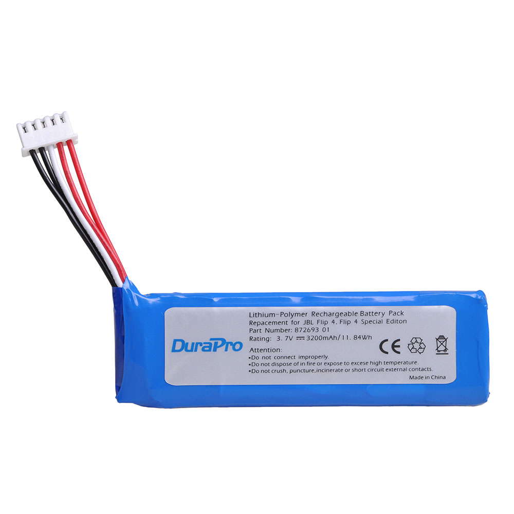 DuraPro 3.7V 3200mAh Battery GSP872693 01 Rechargeable Battery Pack For JBL Flip 4, Flip 4 Special Edition