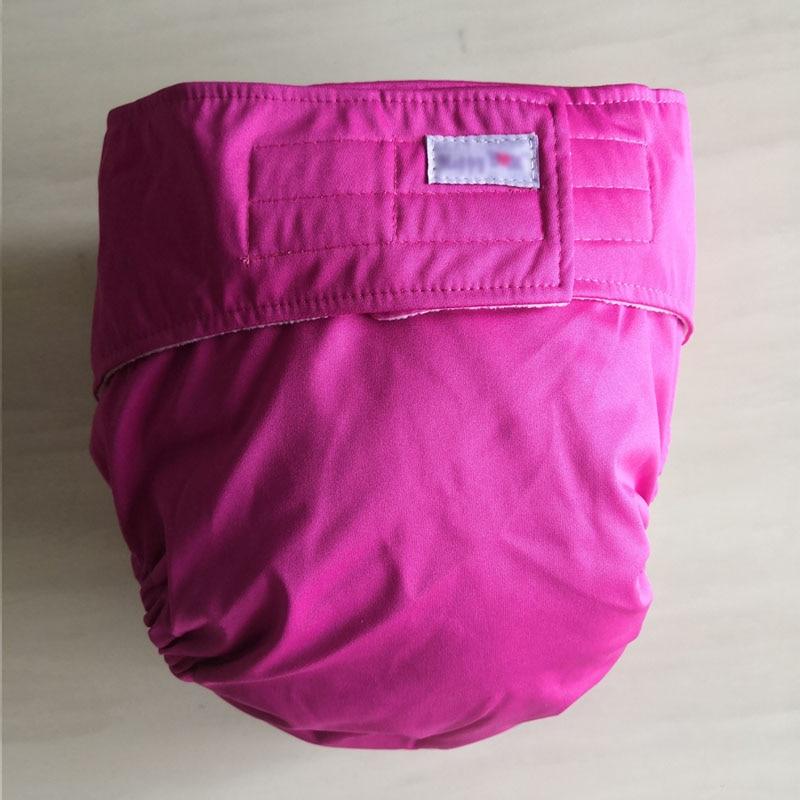 Многоразовые подгузники для взрослых для пожилых людей и людей с ограниченными возможностями, большие размеры, регулируемые термополиуретановые пальто, водонепроницаемая одежда для недержания при недержании - Цвет: pink