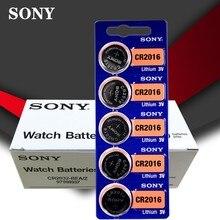 100 pçs/lote SONY 3V Células de Lítio Coin Botão Bateria DL2016 KCR2016 CR2016 LM2016 BR2016 Alta Densidade de Energia
