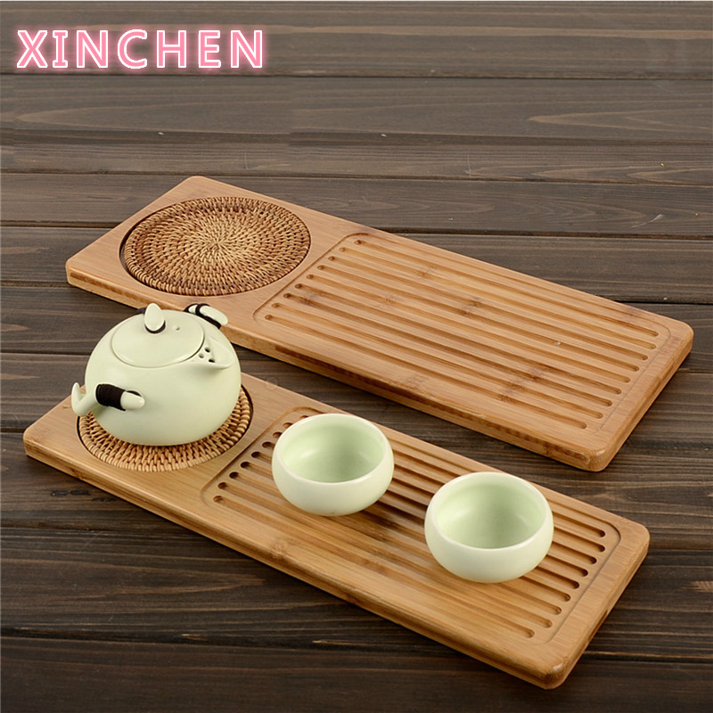 Japanese wooden tea tray saucer for kung fu tea Coffee Kettle Teapot Storage Cutlery tray Service ceremony tool Samovar small|Tea Trays| |  - title=