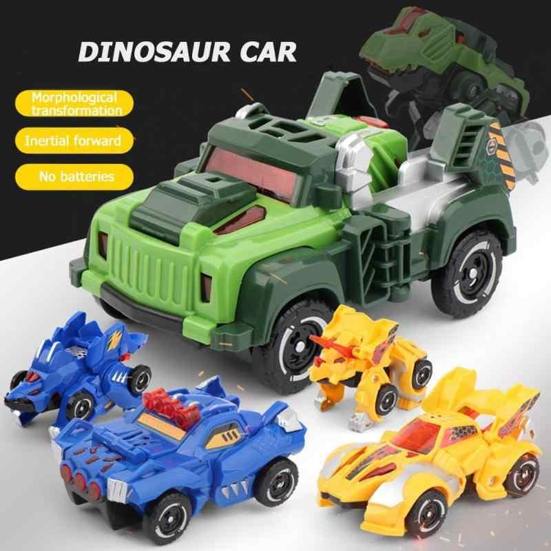 플라스틱 공룡 모델 변형 자동차 차량 변형 로봇 어린이 장난감 양식 변환 관성 전진 배터리 없음
