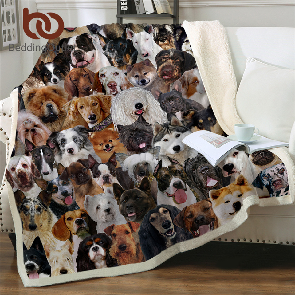 3D Dogs Blanket For Bed