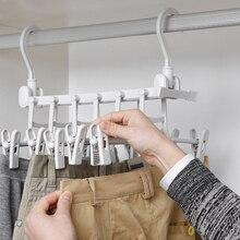 цена Multifunctional Storage Pants Rack 3D Magic Pants Rack Multilayer Pants Rack Pants Hanger Household Magic Pants Folder Wardrobe онлайн в 2017 году