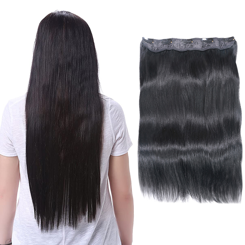 Straight Clip In Human Hair Extensions #1#1B #4 #8 #613 #27 #32 Remy Hair 5 Clips in 1 piece Human Hair