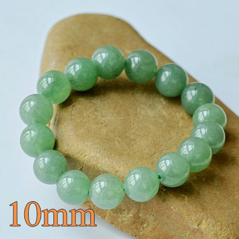 MOROW 100% Natural Green Aventurine Round Bead Stone Bracelet Jewelry Simple Women`s Men Bracelets Fashion Classic Accessory New (9)