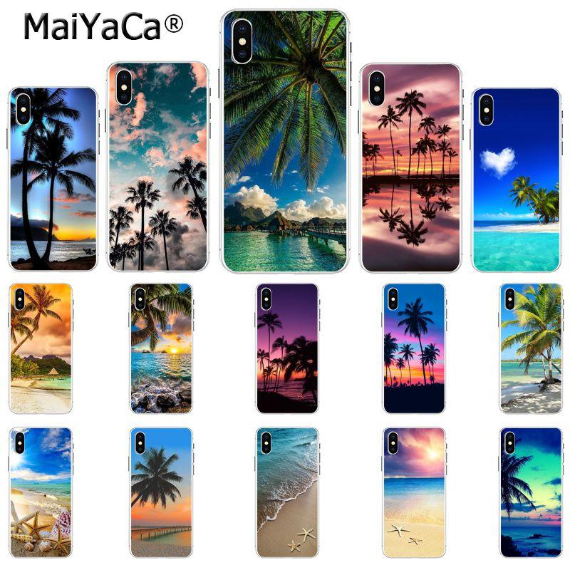 MaiYaCa As Ondas Do Mar spray de Praia ilha do oceano caso de telefone celular para Apple iphone 11 pro 8 7 66S Plus X 5S SE XR XS XS MAX