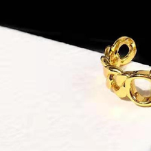 New retro CD letter simple and adjustable male and female same paragraph wheat ear design style ring jewelry