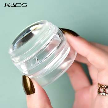 Nail Stamp Scraper Double Head Clear Jelly Silicone Nail Stamper with Cap Enlarge Pattern Print Transfer Stamping Manicure Tool недорого
