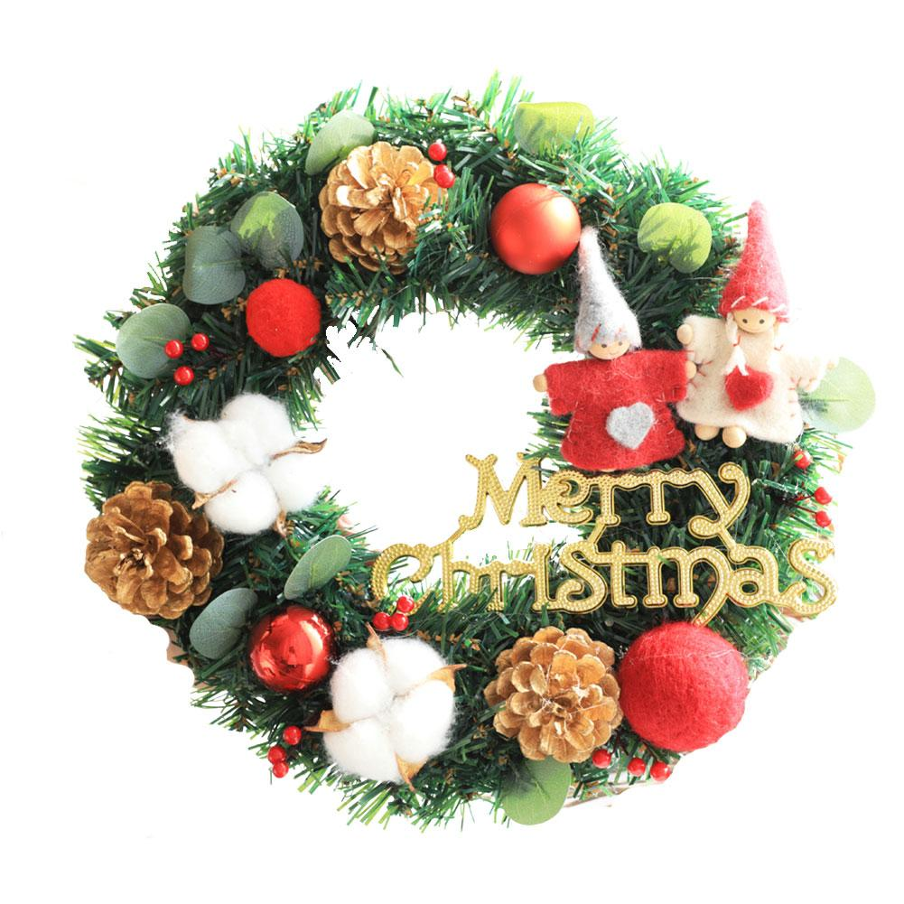 Christmas Wreaths Artificial Garland Door Hanging Gifts Party Decorative Supplies For Christmas Decoration
