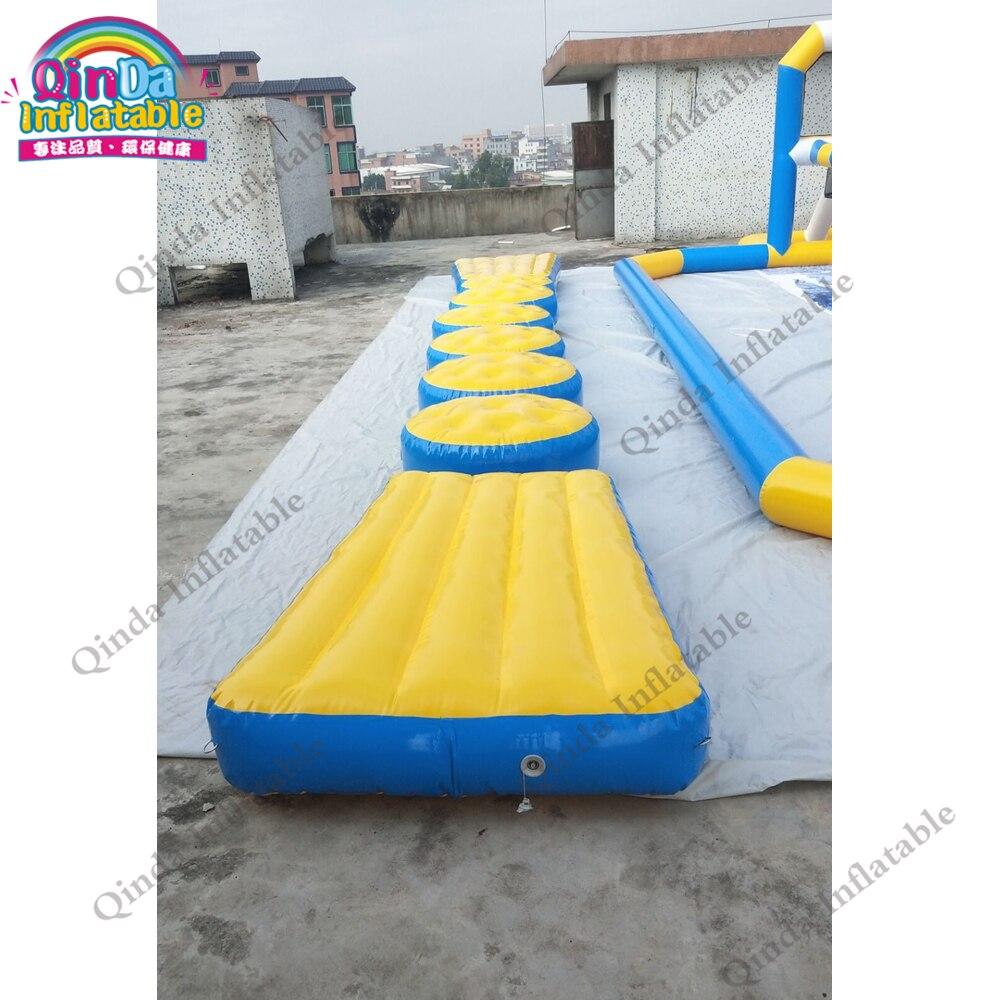 10 M Lengte Drijvende Opblaasbare Brug Juming Opblaasbare Water Hindernisbaan Voor Verkoop - 3