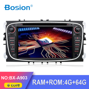 PX6 4G+64G RK3399 DSP 2din Android10 car dvd for Ford focus Mondeo S-max smax Kuga c-max gps autoradio wifi BT multimedia player(China)