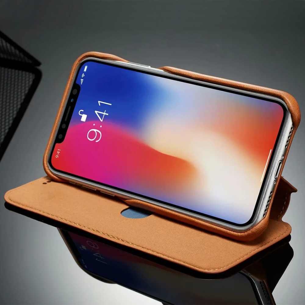 Di lusso Ultra Sottile di Cuoio di Caso Della Copertura di Vibrazione per Samsung S20 Ultra Nota 10 Più S10 5G S10e A71 A51 a70 A50 A20 A20e Nota 9 S9 S8