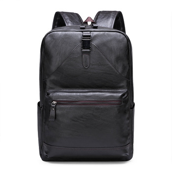 PU Leather Backpack Men Travel Bag Waterproof Laptop Backpacks School Bags for Teenagers Casual  Pack Bagpack Mochila Masculina