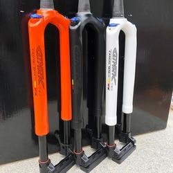 Mtb garfo de bicicleta carbono mountain bike garfo 27.5 29er rs1 acs solo ar 100*15mm preditiva suspensão a óleo e garfo gás