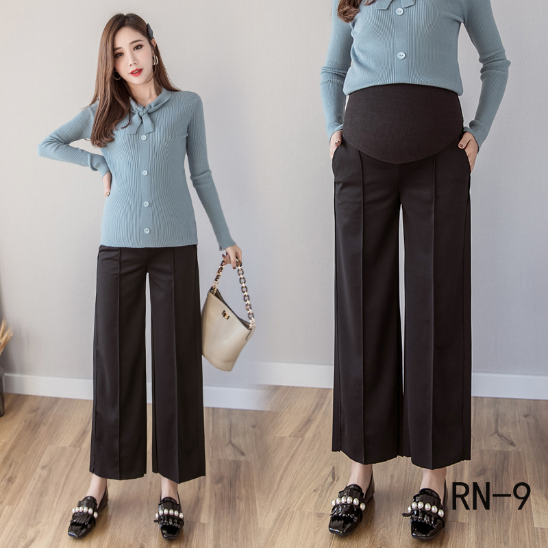 Pregnant Women's Pants 2020 Spring New Thin Loose Wide Leg Pants Pregnant Women's Soild Trousers Autumn Maternity Clothing