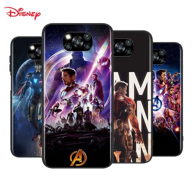 Iron Man Marvel Avengers dla Xiaomi Poco X3 NFC M2 X2 F2 F3 C3 M3 F1 Pro Mi grać Mix 3 A3 A2 A1 6 5 Lite miękki futerał na telefon