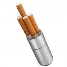 Коробка для сигарет из серебристого алюминиевого сплава, водонепроницаемый чехол для сигарет 4 шт., держатель для таблеток, зубочистка, капс...