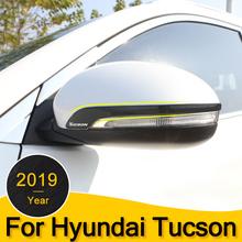 Lusterko wsteczne samochodu naklejka dla hyundai Tucson 2015-2017 2018 2019 lusterka boczne ze stali nierdzewnej pokrywa paskiem Accessries tanie tanio SYAUAWTO 1inch Chrom stylizacja STAINLESS STEEL 0 2kg Rearview Mirror Side Cover Stripe For Hyundai Tucson 2015 2016 2017 2018 2019