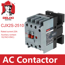 цена на CJX2s-2510 AC Contactor DELIXI 25A 3 Poles NO Normal Open Coil Voltage 24V 36V 110V 220V 380V 50Hz Din Rail Mounted