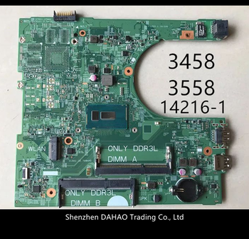 14216-1 PWB1XVKN CN-0MHDT2 0MHDT2 placa madre para Dell 15 3458 portátil de 3558 Placa base con SR23Y I5-5200U 100% totalmente