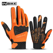 INBIKE MTB Gloves Breathable Motorcycle Gloves Full Finger Motocross BMX Offroad Cycling Gloves Touch Screen Guantes Moto