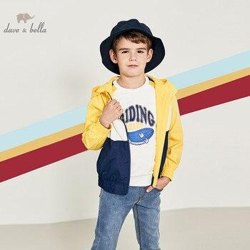 DBK12292 chaqueta con capucha de primavera para niños y niñas de moda para niños abrigo con cremallera para niños