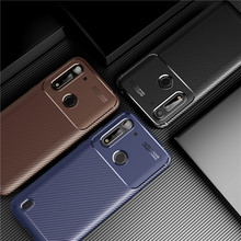 Carbon Fiber Cover For Motorola Moto G8 Power Lite Case Soft Housings Protective Bumper For Moto G8 Power Lite Phone Case 6.5''