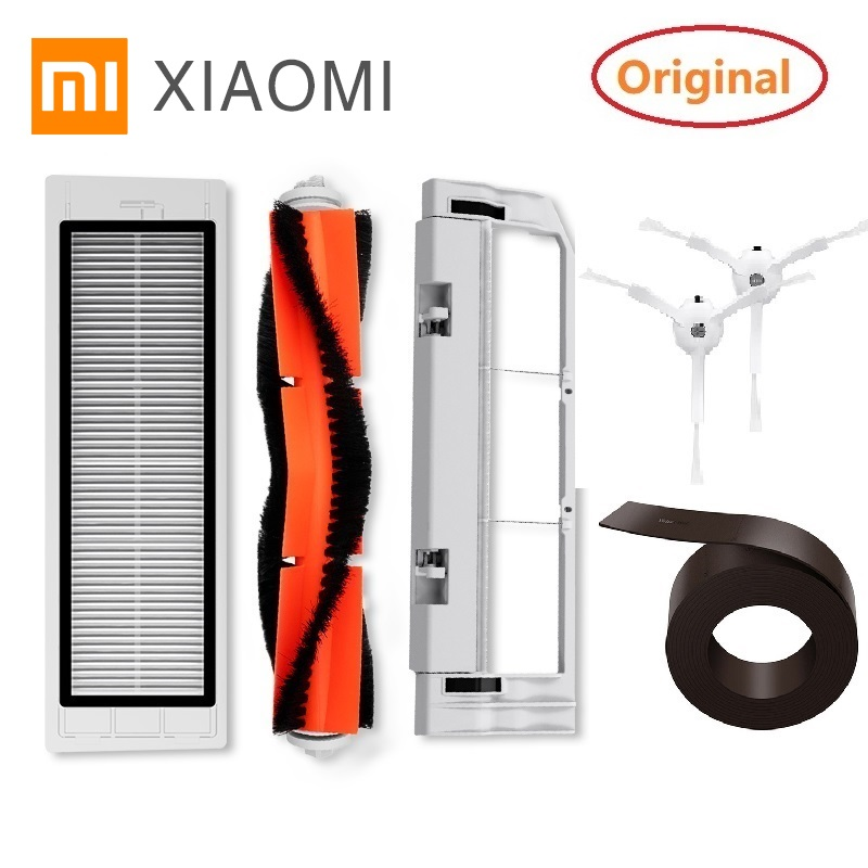Original Xiaomi Robot Vacuum Part Of HEPA Filter Main Brush Cleaner Tool Side Brush Wall For Xiaomi MIJIA Roborock Vacuum Parts