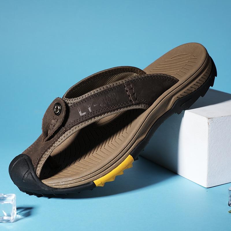 praia hip flip-flops chinelos masculinos respiráveis